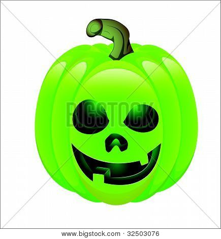 Illustration of Evil Jack O Lantern