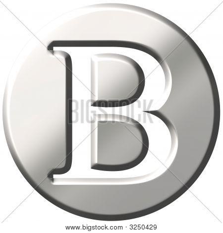 3D Steel Letter B