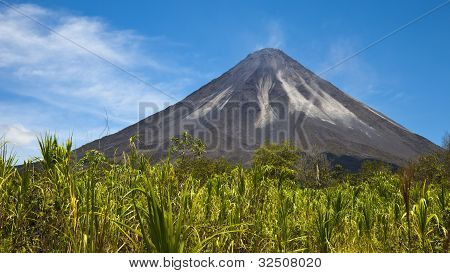 The Active Side Of Arenal Volcano