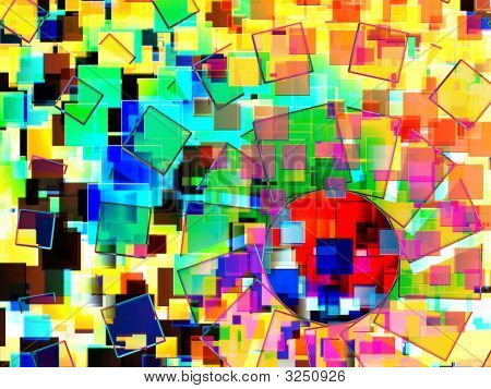 A Background Made From Squares