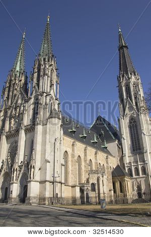 Saint Wenceslas Cathedral In Olomouc (czech Republic)