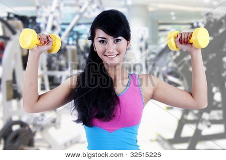 Working Out With Dumbbell