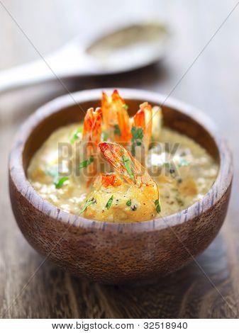 shrimps in tomato cream curry sauce
