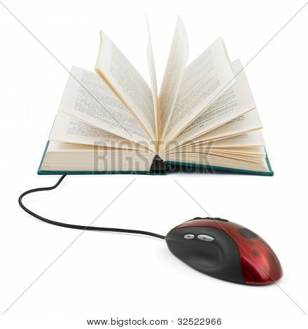 Computer Mouse And Book