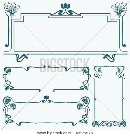 Rahmen im Stil Art nouveau