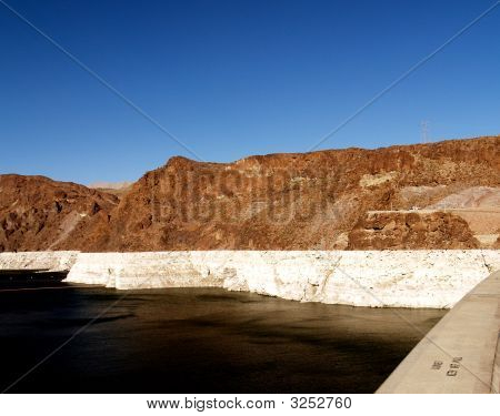 Lake Side Of The Hoover Dam