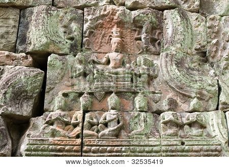 Ancient Khmer Buddha carving