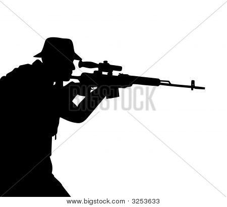 Riflemen Silhouette