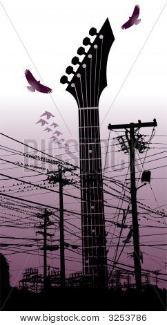 Electricity Guitar Birds