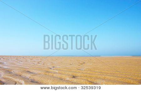 Sand,sea and blue sky