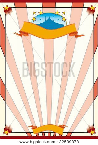 striped circus. A circus poster for your advertising