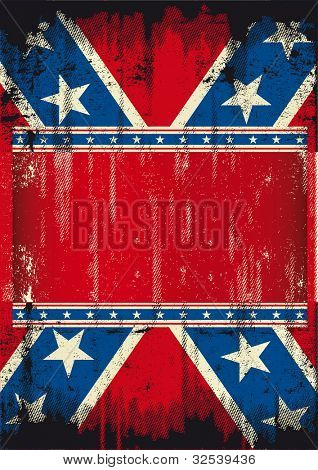 Grunge Confederate poster.  A confederate poster with a texture and a large frame for your message