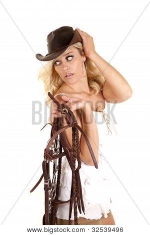 Cowgirl Reins Look Back.