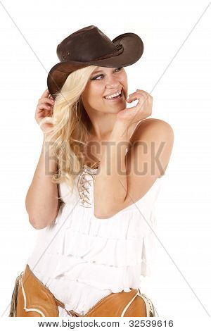 Cowgirl Chaps Hands Face