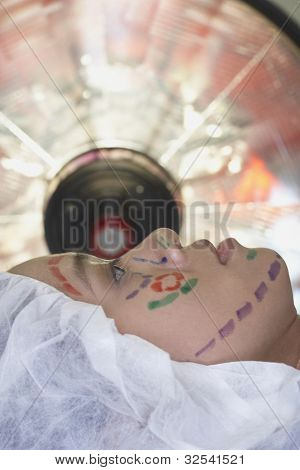 poster of Close up of Asian woman prepped for facelift