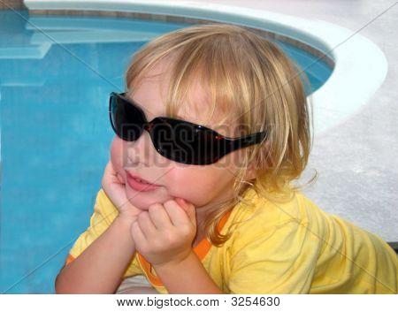 Little Girl In Big Glasses