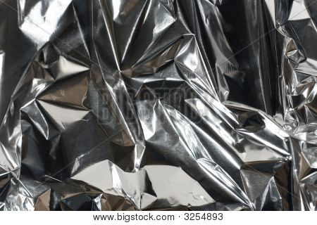 Shiny Crumpled Foil Paper