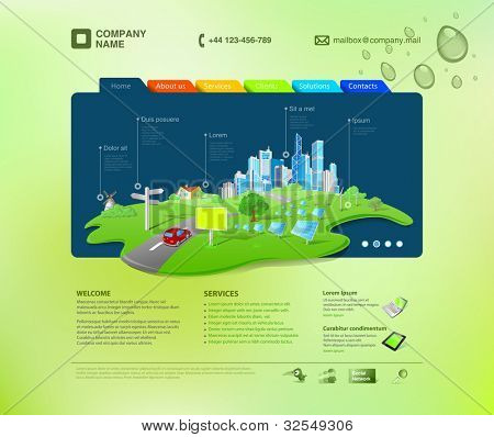 Website template. Infographics concept at the cap. Business promo. Vector. Editable.