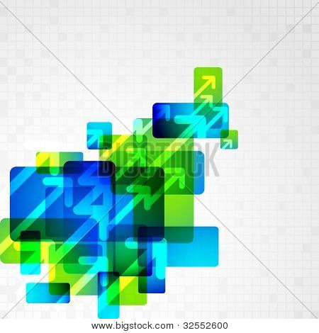 illustration of abstract futuristic background with arrow