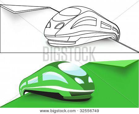 Tren de alta velocidad verde