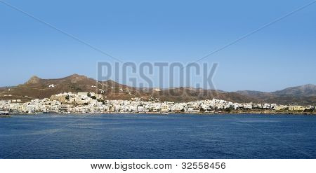 Naxos In Greece At Evening Time