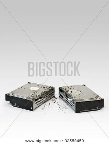 Halved Hard Disk Drive