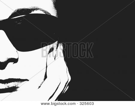 Spy Girl - Half Face