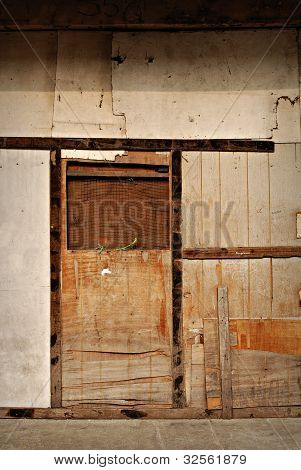 Boarded Closed Door