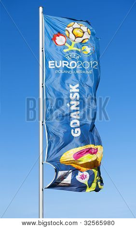Flag with logo for UEFA EURO 2012