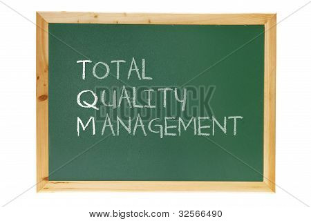 Blackboard with Business Management Message