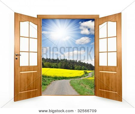 Open the door to way the field