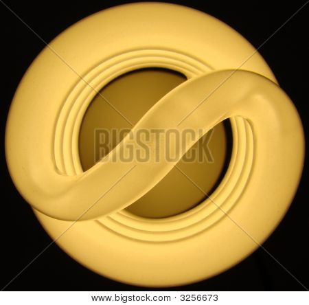 Compact Fluorescent Bulb Top View