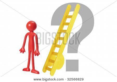 Miniatura goma figura y signo de interrogación