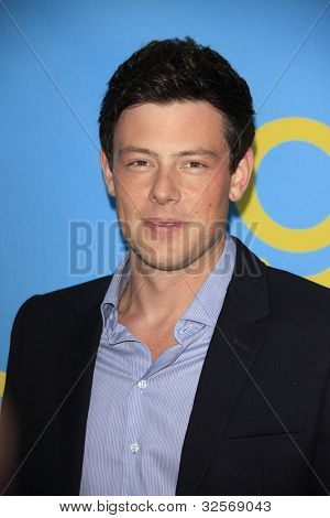 LOS ANGELES, CA - MAY 1: Cory Monteith at the Glee academy screening and Q&A at the Leonard H Goldenson Theater on May 1, 2012 in Los Angeles, California