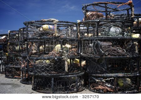 Crab Traps On The Dock