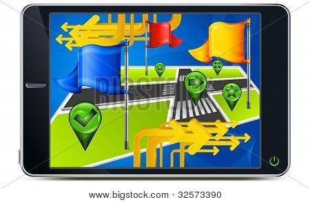 Gps Navigation In Screen