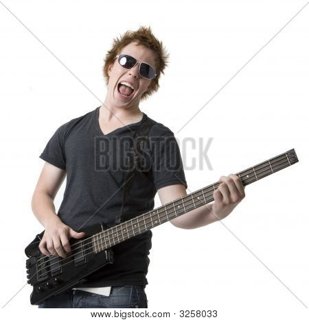 Rude Rocks Out With Guitar