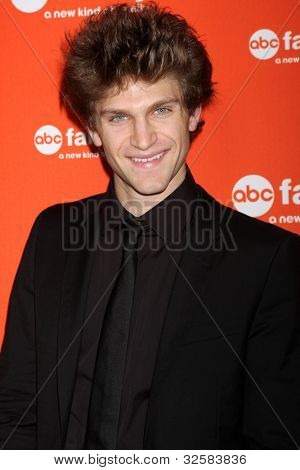 LOS ANGELES - MAY 1:  Keegan Allen arrives at the ABC Family West Coast Upfronts at The Sayers Club on May 1, 2012 in Los Angeles, CA