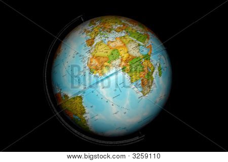 Desk Globe On Black