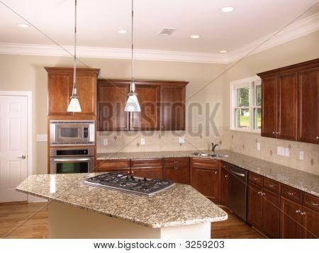 Luxury Kitchen With Island Stove 2