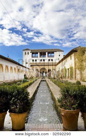 The Court Of La Acequia. Generalife.