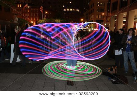 Light Dancing at Veterans' Memorial Park