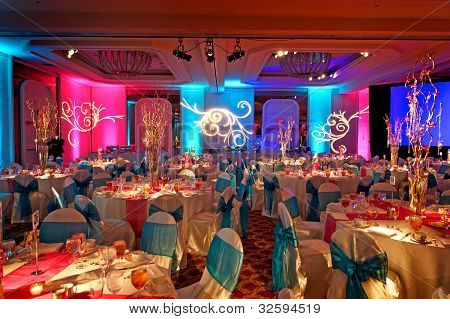 Salón decorado para India Weding
