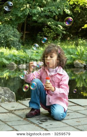 Soap Bubbles At The Pond