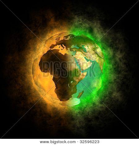2012-Transformation der Erde Europa, Asien, Afrika