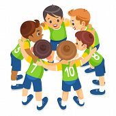 Kids Play Sports. Children Sports Team United Ready To Play Game. Children Team Sport. Youth Sports  poster
