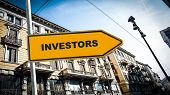 Street Sign The Direction Way To Investors poster