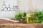 Cannabis Of The Formula Cbd Cannabidiol. Hemp Oil, Cbd Oil Cannabis Extract, Medical Cannabis Concep poster