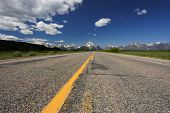 pic of rocky-mountains  - Road through Grand Teton National Park Wyoming - JPG