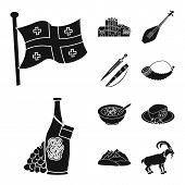 Isolated Object Of Heritage And Originality Icon. Collection Of Heritage And Traditions Stock Symbol poster